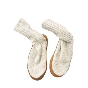 L.L. Bean Unisex Wool Slippers Leather Bottom Sz S